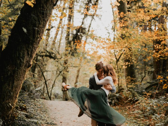 Engagement in the autumn leaves | Maple Ridge, BC